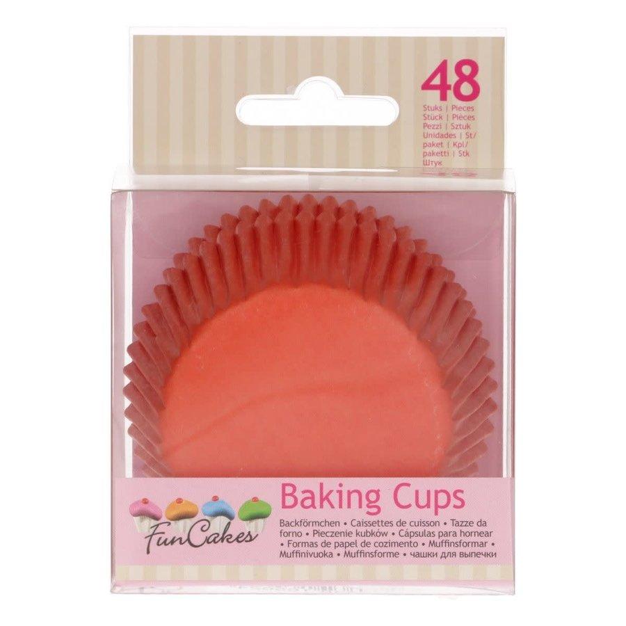 FunCakes Cupcakevormpjes Oranje pk/48-1