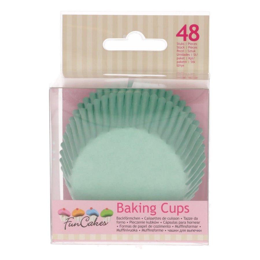 FunCakes Cupcakevormpjes Mintgroen pk/48-1