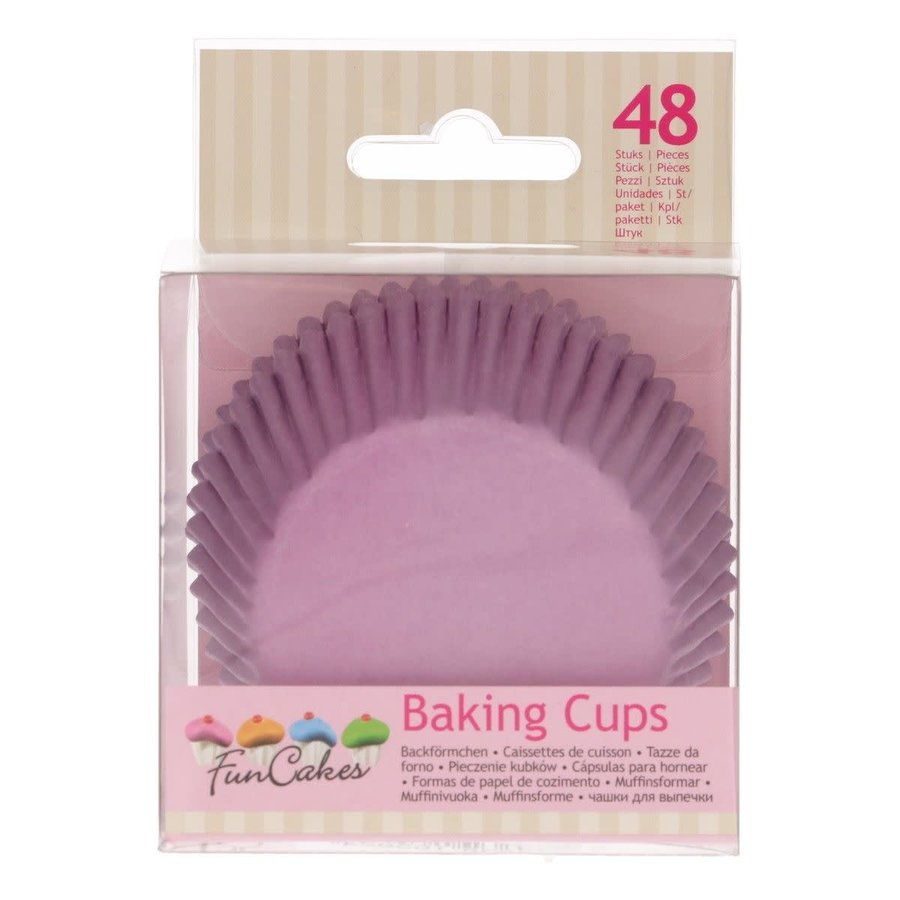 FunCakes Cupcakevormpjes Lila pk/48-1