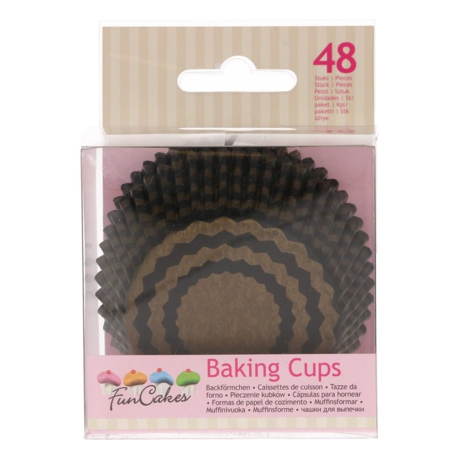 FunCakes Cupcakevormpjes Chevron Goud pk/48-1