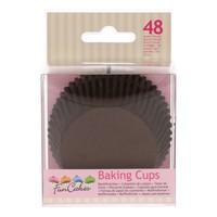 FunCakes Cupcakevormpjes Bruin pk/48