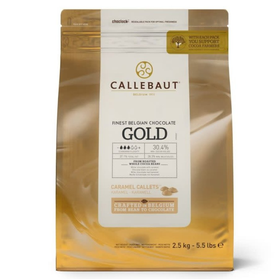 Callebaut Chocolade Callets -Gold- 150 gram-1