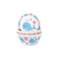 House of Marie Baking Cups walvis gender reveal pk/50