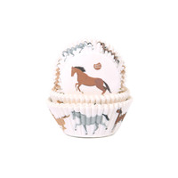 House of Marie Baking Cups paarden  pk/50