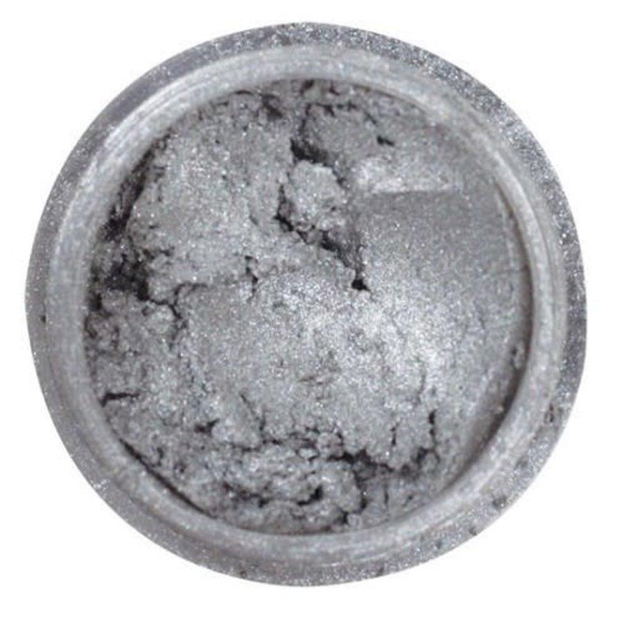 Edible silk - metallic light silver-2