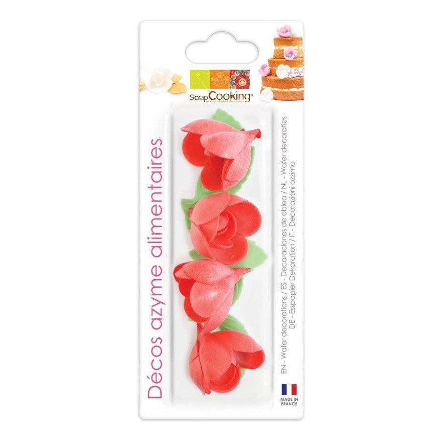 Scrapcooking Rode Roos & Blad Decoratie Set/10-1