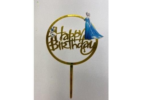 Happy birthday topper frozen