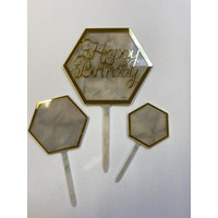 thumb-Hexagon topper marmer wit-1