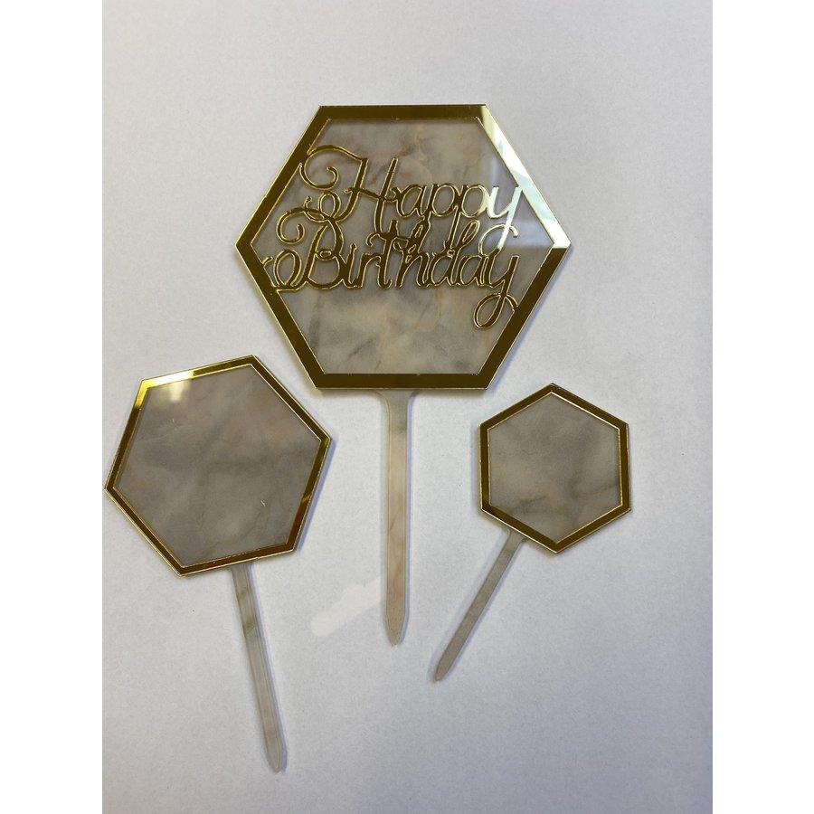 Hexagon topper marmer wit-1