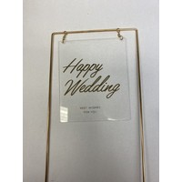 thumb-happy wedding topper metaal square transparant-2
