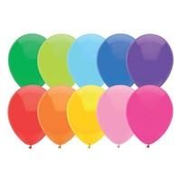 thumb-Ballonnen Uni Assorti 30cm 10st-1