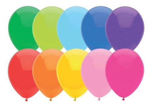 Ballonnen Uni Assorti 30cm 10st