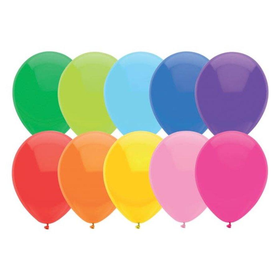 Ballonnen Uni Assorti 30cm 10st-2