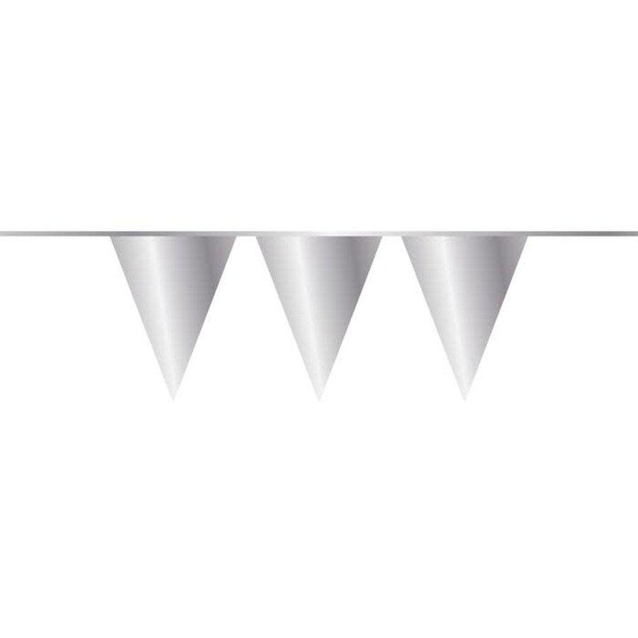 Vlaggenlijn PE zilver 10m-1