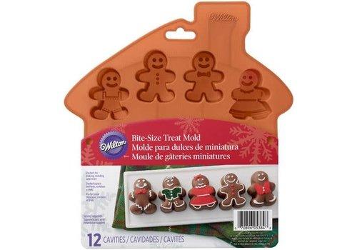 Wilton Silicone Mold Bite-Size Gingerbread