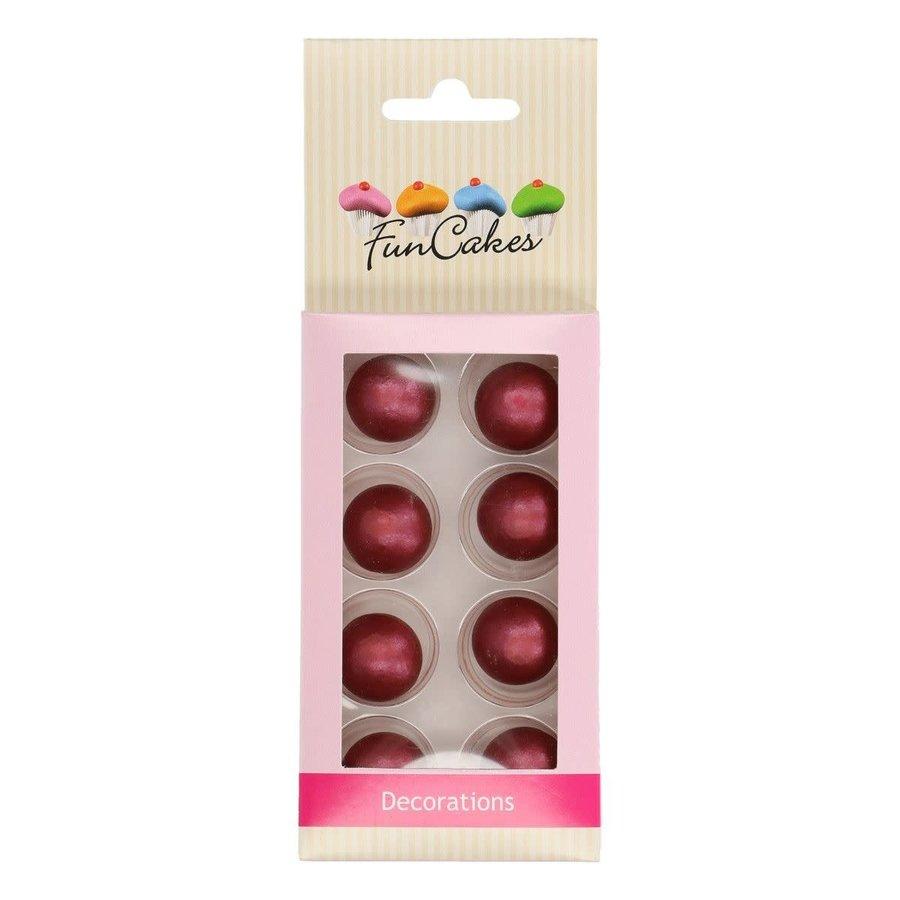 FunCakes Pearl Choco Balls Ruby Set/8-1