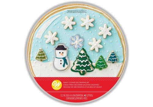 Wilton Cookie Pan Kit Snow Globe Set/5