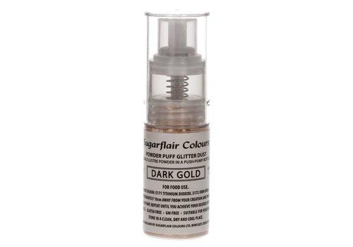 Sugarflair Pomp Spray Glitterpoeder Donkergoud