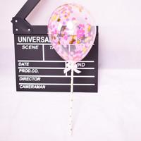 thumb-taarttopper confetti ballon roze-1