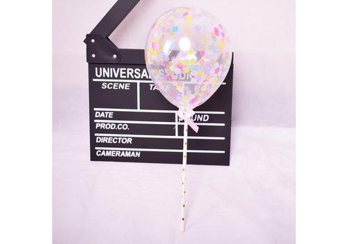taarttopper confetti ballon multi