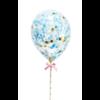 taarttopper confetti ballon blauw