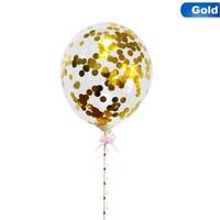 thumb-taarttopper confetti ballon goud-1