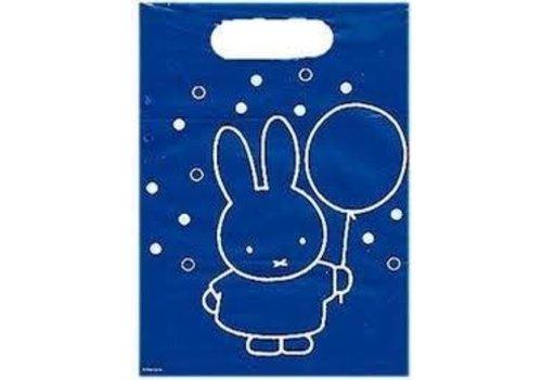 Nijntje Viert Feest Uitdeelzakjes (12 stuks) Blauwe Feestzakjes Stippen Verjaardag Plastic Zakjes
