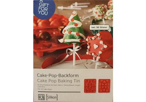 Cake pop bakvorm  Kerstboom, Ster, Bal & Hart