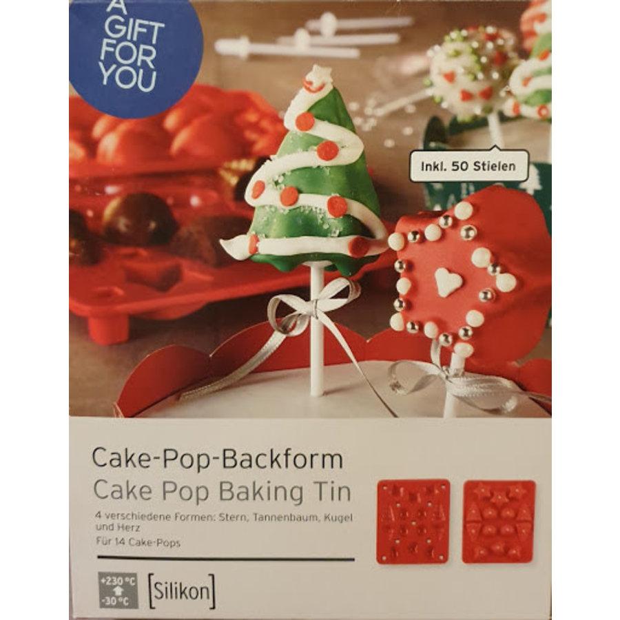 Cake pop bakvorm  Kerstboom, Ster, Bal & Hart-1