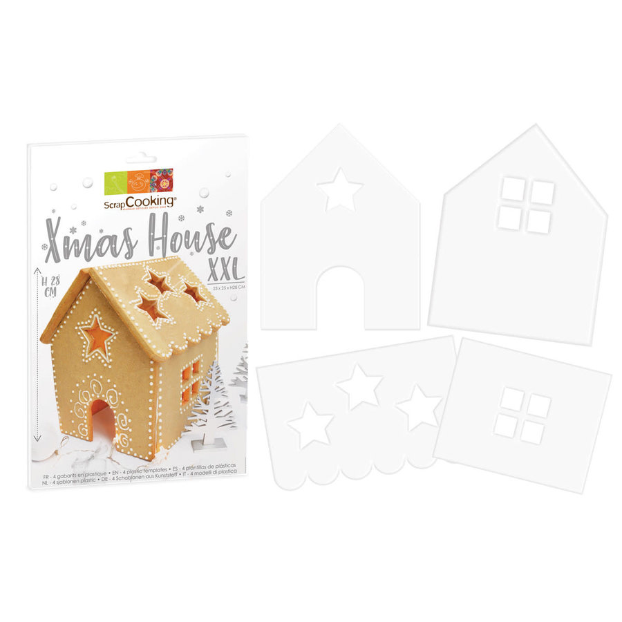 Scrapcooking Cookie Template XXL Xmas House Set/4-1