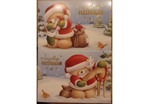 Hallmark Kerstkaarten set 10 stuks met 2 designs