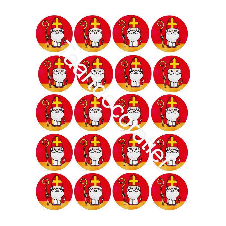 Sinterklaas cupcakes rondjes 5cm-1