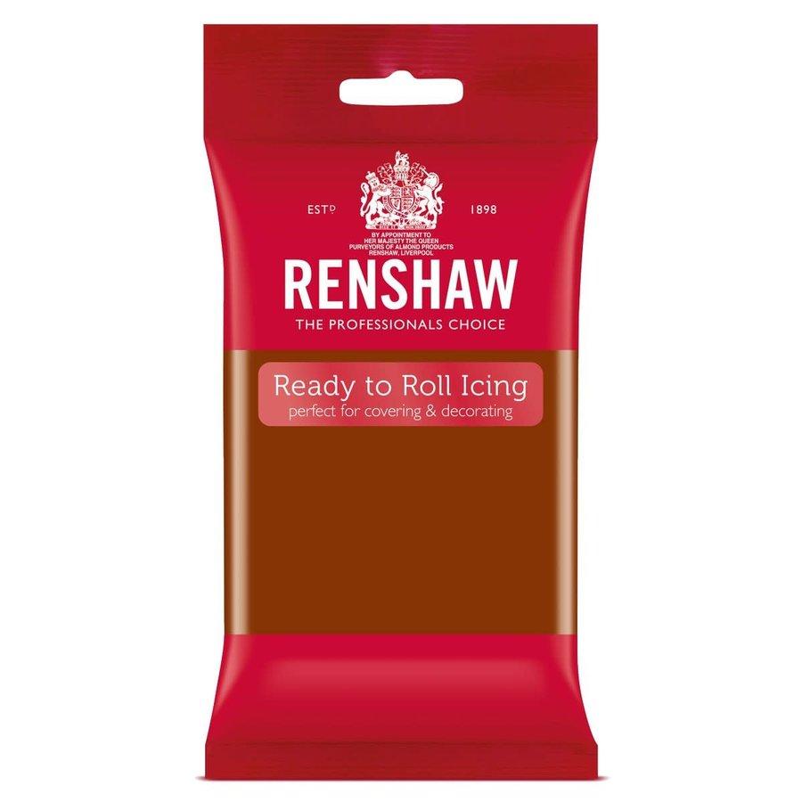 Renshaw Rolfondant Pro 250g - donker bruin-1