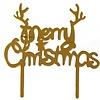 tastyme Merry Christmas cake topper goud