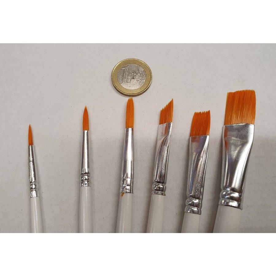 Fijne decoratie kwasten / penselen set 6 stuks-2