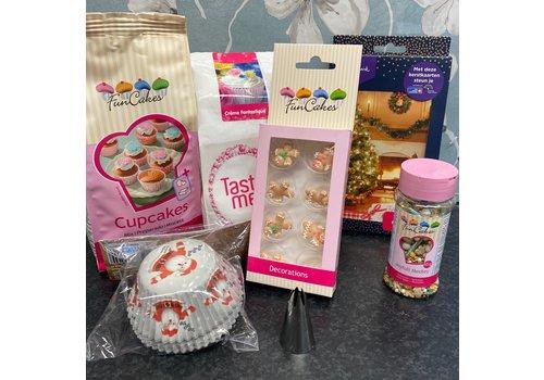 Kerst cupcake pakket