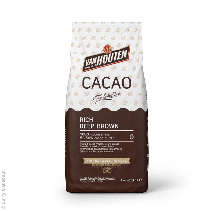 Van Houten Rijke Diepbruine Cacaopoeder 1kg-1