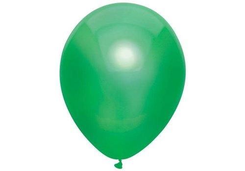 Ballonnen Metallic Donker groen 30cm 10st