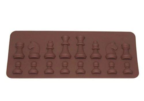Chocolade mal schaakstukken