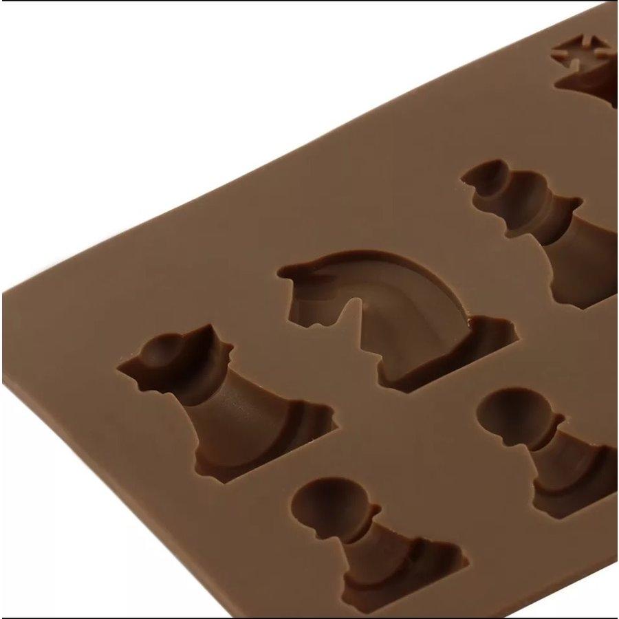 Chocolade mal schaakstukken-2