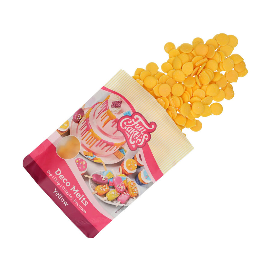 FunCakes Deco Melts -yellow geel - 250g-1