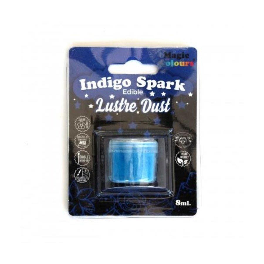 Magic Colours Edible Lustre Dust - Indigo Blue blauw - 8ml-1