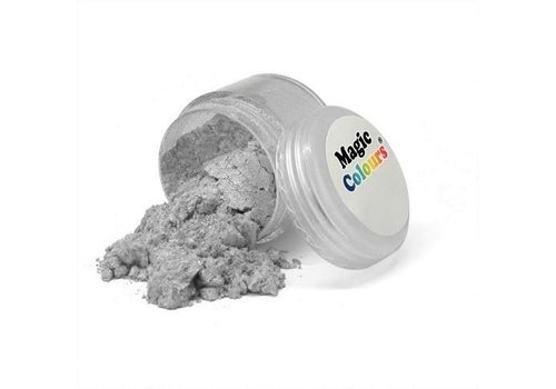 Magic Colours Edible Lustre Dust - Pure Silver - 10 ml
