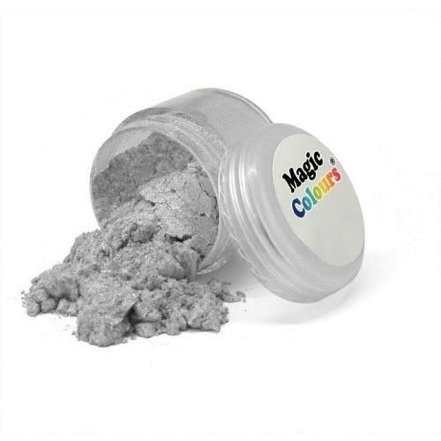 Magic Colours Edible Lustre Dust - Pure Silver - 10 ml-1