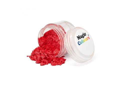 Magic Colours Edible Lustre Dust - Shiny Red rood - 8ml