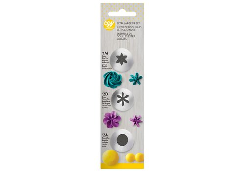 Wilton Decorating Tip Set Extra Large #1M, #2D, #2A