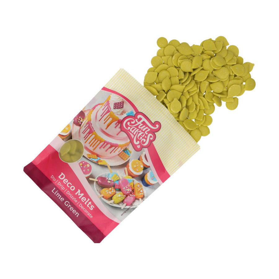 FunCakes Deco Melts -lime groen- 250g-3