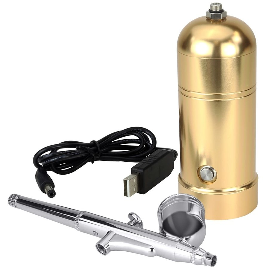 PME Oplaadbare Airbrush Kit Goud-1