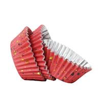 thumb-PME Folie Cupcakevormpjes Roze & Gouden Vlekjes pk/30-1