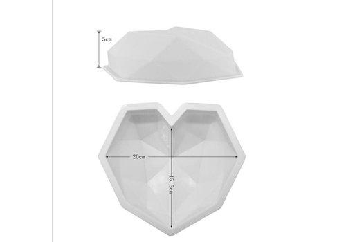 Geometrische smash hart Mould xl